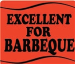 Excellent for Barbeque Wave Grilling Label - 1.5 in. x 2 in.