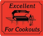 Excellent for Cookouts Grilling Label - 1.5 in. x 2 in.