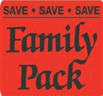 Save Save Save Save Family Pack Label - 1.5 in. x 2 in.