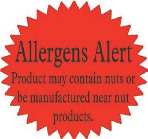 Allergan Warning for nuts Other Label - 1.5 in. x 2.25 in.