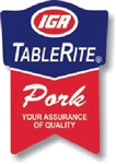 IGA TableRite Pork Ribbon Label - 1.25 in. x 1.875 in.
