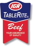 IGA TableRite Beef Ribbon USDA Label - 1.25 in. x 1.875 in.