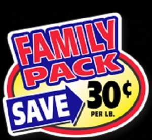 30¢ Family Pack Oval Family Pack Continued - 2.4 in. x 3 in.