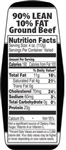90 and 10 Ground Beef Nutrifacts Nutritional Grinds - 1.5 in. x 3.62 in.