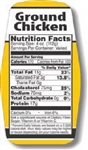 Ground Chicken Nutrifacts Nutritional Grinds Label - 1.5 in. x 3.62 in.
