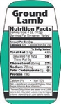 Ground Lamb Nutrifacts Nutritional Grinds Label - 1.5 in. x 3.62 in.