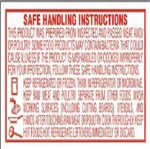 Safe Handling Vertical Red Other - 1 in. x 1.75 in.