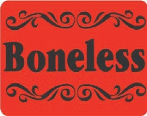 Boneless with Design Cuts Continued Label - 1.75 in. x 1.25 in.
