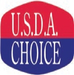U.S.D.A. Choice Label Corner Ribbon - 0.63 in. x 1.25 in.
