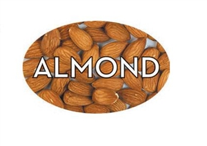 Almond Flavor Label - 1.25 in. x 2 in.