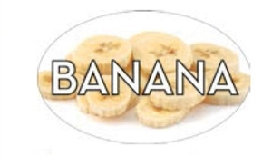 Banana Flavor Label - 1.25 in. x 2 in.