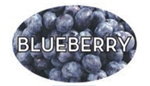 Blueberry Flavor Label - 1.25 in. x 2 in.