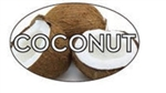 Coconut Flavor Label - 1.25 in. x 2 in.