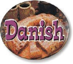 Danish Flavor Label Sweet - 1.25 in. x 2 in.