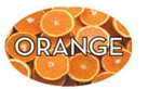 Orange Flavor Label - 1.25 in. x 2 in.