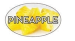 Pineapple Flavor Label - 1.25 in. x 2 in.