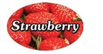 Strawberry Flavor Label - 1.25 in. x 2 in.