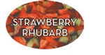 Strawberry Rhubarb Flavor Label - 1.25 in. x 2 in.