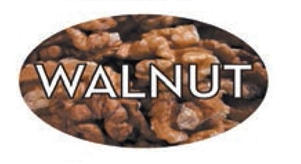 Walnut Flavor Label Nuts Seeds and Grains - 1.25 in. x 2 in.