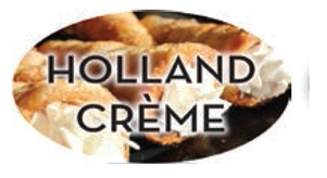 Holland Creme Flavor Label Fillings and Frostings - 1.25 in. x 2 in.