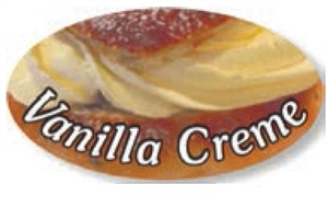 Vanilla Creme Flavor Label Fillings and Frostings - 1.25 in. x 2 in.