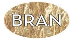 Bran Flavor Label Nuts Seeds and Grains - 1.25 in. x 2 in.