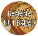 Banana Nut Bread Flavor Label Sweet - 1.25 in. x 2 in.