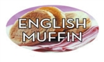 English Muffin Flavor Label Nuts Seeds and Grains - 1.25 in. x 2 in.