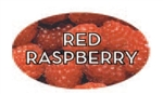 Red Raspberry Flavor Label - 1.25 in. x 2 in.