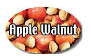 Apple Walnut Flavor Label - 1.25 in. x 2 in.