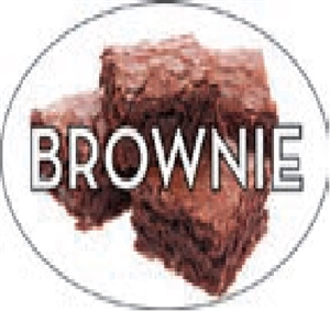 Brownie Flavor Label Sweet - 1.25 in. x 2 in.