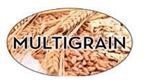 Multigrain Flavor Label Nuts Seeds and Grains - 1.25 in. x 2 in.