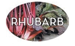 Rhubarb Flavor Label - 1.25 in. x 2 in.