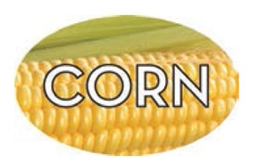 Corn Flavor Label - 1.25 in. x 2 in.