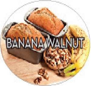 Banana Walnut Flavor Label Sweet - 1.25 in. x 2 in.