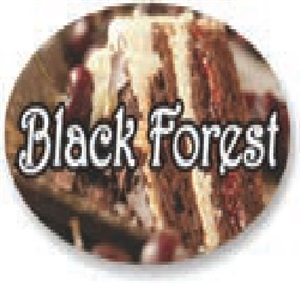 Black Forest Flavor Label Sweet - 1.25 in. x 2 in.