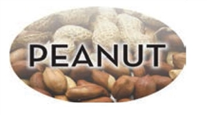 Peanut Flavor Label Nuts Seeds and Grains - 1.25 in. x 2 in.