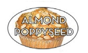 Almond Poppyseed Flavor Label - 1.25 in. x 2 in.