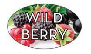Wild Berry Flavor Label - 1.25 in. x 2 in.