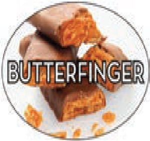 Butter Finger Flavor Label Sweet - 1.25 in. x 2 in.