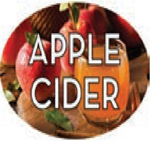 Apple Cider Flavor Label Sweet - 1.25 in. x 2 in.