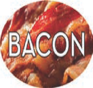 Bacon Flavor Label Savory - 1.25 in. x 2 in.