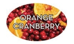 Orange Cranberry Flavor Label - 1.25 in. x 2 in.