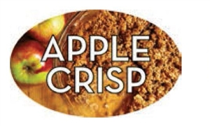 Apple Crisp Flavor Label - 1.25 in. x 2 in.