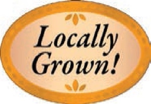 Locally Grown Flavor Label Healthy Choices - 1.25 in. x 2 in.