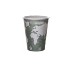 World Art Compostable Green and Brown Hot Cup - 12 oz.