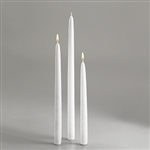 Sterno Wrapped White Taper Candle - 15 in.