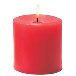 Sterno Red Pillar Candle - 3 in. x 3.5 in.