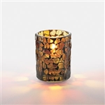 Amber Mosaic Votive Lamps - 3.5 in.
