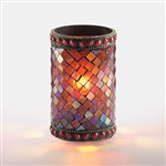 Sterno Red Beaded Mosaic Lamp - 4.75 in.